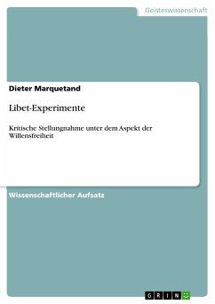 Libet-Experimente - Marquetand, Dieter