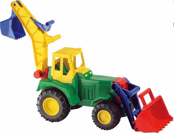 Lena 02086 - Traktor mit Lader/Bagger, Karton