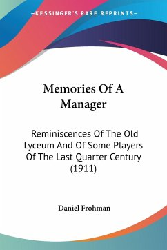 Memories Of A Manager