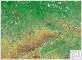 Reliefkarte Sachsen klein 1 : 650.000