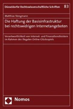 Die Haftung der Basisinfrastruktur bei rechtswidrigen Internetangeboten - Steegmann, Matthias