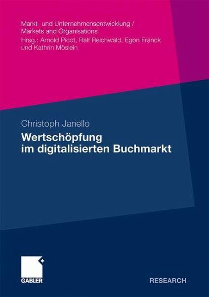 Wertschöpfung im digitalisierten Buchmarkt