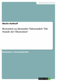 Rezension zu Alexander Nützenadels