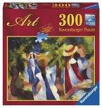 Ravensburger 14024 - August Macke: Mädchen unter Bäumen, 300 Teile Puzzle
