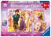 Ravensburger 09298 - Disney: Rapunzel, 3 x 49 Teile Puzzle