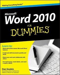 Word 2010 for Dummies - Gookin, Dan