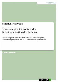 Grin Verlag Lernstrategien im Kontext der Selbstorganisation des Lernens