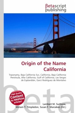 Origin of the Name California