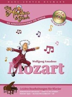 Mozart, Leichte Bearbeitungen für Klavier, m. A...
