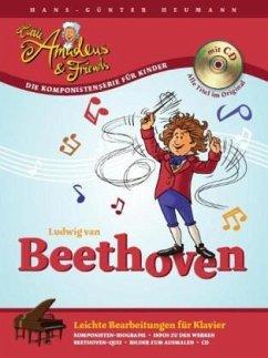 Beethoven, leichte Bearbeitungen für Klavier, m. Audio-CD