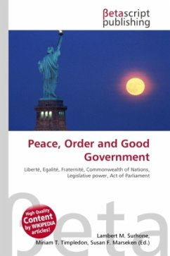 Peace, Order and Good Government