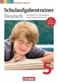 Schulaufgabentrainer Deutsch 5. Jahrgangsstufe. Realschule Bayern. Sprach- und Lesebuch