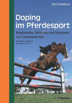 Doping im Pferdesport - Schlatterer, Bert