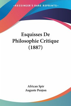 Esquisses De Philosophie Critique (1887)