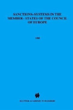 Sanctions-Systems in the Member States of the Council of Europe: Part I: Deprivation of Liberty, Community Service and Other Substitutes