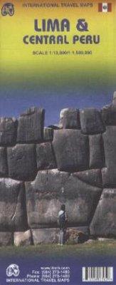 International Travel Map ITM Lima & Central Peru; International Travel Map ITM Lima y el centro del Perú