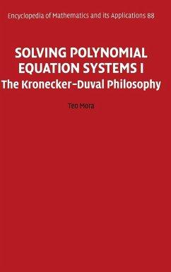 Solving Polynomial Equation Systems I - Mora, Teo