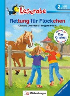 Leserabe mit Mildenberger. Leichter lesen lernen mit der Silbenmethode: Rettung für Flöckchen - Ondracek, Claudia