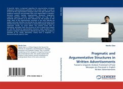 Pragmatic and Argumentative Structures in Written Advertisements - Sáez, Natalia