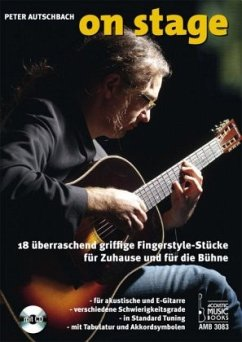 On Stage, für akustische oder E-Gitarre, m. Audio-CD