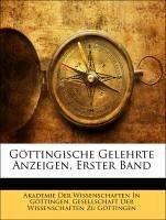 Göttingische Gelehrte Anzeigen, Erster Band