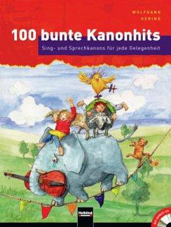 100 bunte Kanonhits, m. Audio-CD (Mini) - Hering, Wolfgang