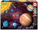 Carletto 9214461 - Educa, Solar System NEON, Puzzle, 1000 Teile