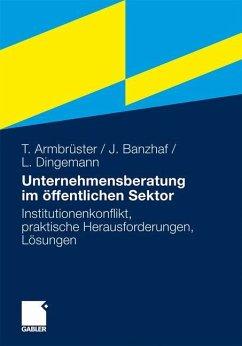 Unternehmensberatung im öffentlichen Sektor - Armbrüster, Thomas;Banzhaf, Johannes;Dingemann, Lars