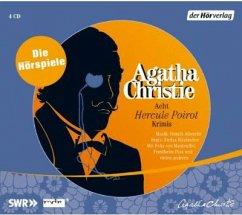 Acht Hercule Poirot Krimis, 4 Audio-CDs - Christie, Agatha