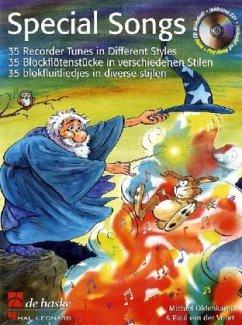 Special Songs, für Blockflöte, m. Audio-CD