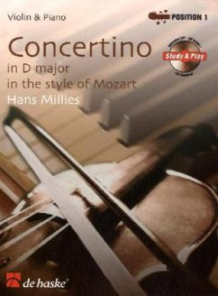 Concertino in D-Dur im Stil von Mozart. Concertino in D major in the style of Mozart, Violine u. Klavier, m. Audio-CD