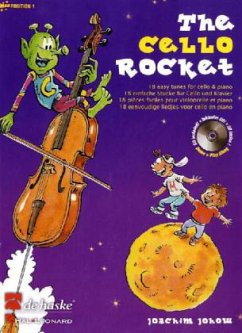 The Cello Rocket, für Violoncello und Klavier, m. Audio-CD