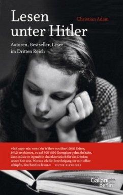 Lesen unter Hitler - Adam, Christian
