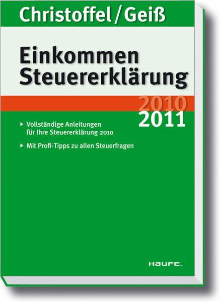 Einkommensteuererkl rung 2010 2011 von hans g nter for Christoffel innendekoration flims