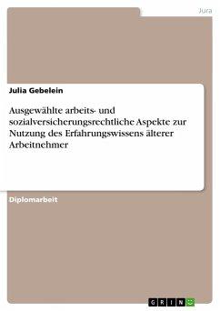 Ausgewählte arbeits- und sozialversicherungsrechtliche Aspekte zur Nutzung des Erfahrungswissens älterer Arbeitnehmer - Gebelein, Julia