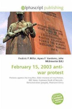 February 15, 2003 anti-war protest