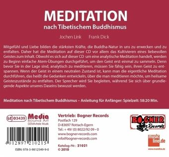 meditation nach tibetischem buddhismus cd. Black Bedroom Furniture Sets. Home Design Ideas