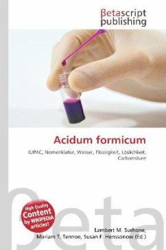 Acidum formicum