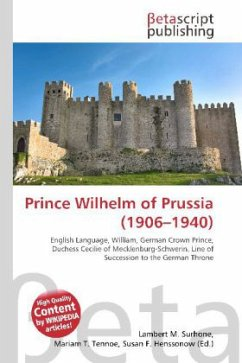 Prince Wilhelm of Prussia (1906 - 1940 )