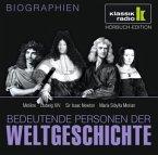 Bedeutende Personen der Weltgeschichte: Molière / Ludwig XIV. / Sir Isaac Newton / Maria Sibylla Merian