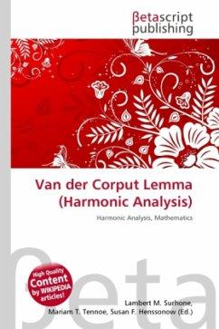 Van der Corput Lemma (Harmonic Analysis)