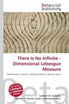 There Is No Infinite - Dimensional Lebesgue Measure