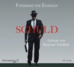 Schuld, 3 Audio-CDs - Schirach, Ferdinand von