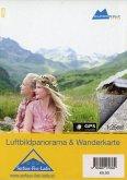 Alpenwelt Luftbildpanorama & Wanderkarte Serfaus-Fiss-Ladis