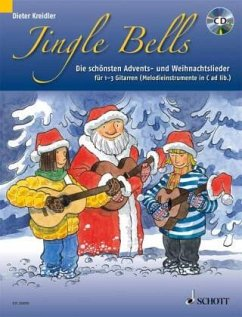 Jingle Bells, für 1-3 Gitarren (Melodieinstrumente in C ad lib.), m. Audio-CD