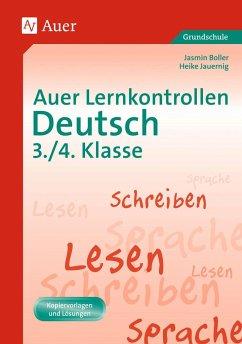 Auer Lernkontrollen Deutsch, Klasse 3/4 - Boller, Jasmin; Jauernig, Heike