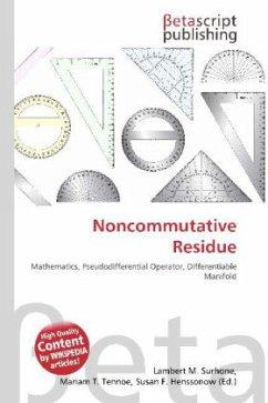 Noncommutative Residue