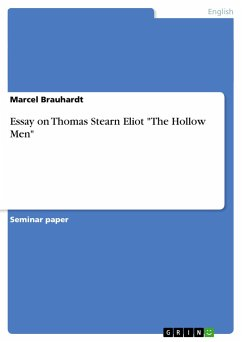 essay on hollow men Download thesis statement on analysis of the hollow men, by ts elliot in our database or order an original thesis paper that will be written by one of our staff.