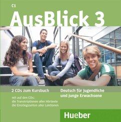 2 Audio-CDs zum Kursbuch / AusBlick, Deutsch für Jugendliche und junge Erwachsene Bd.3