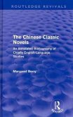 The Chinese Classic Novels (Routledge Revivals)